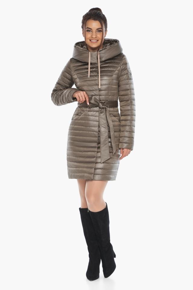 """Трендовая куртка женская капучиновая модель 66870 Braggart """"Angel's Fluff"""" фото 2"""