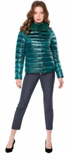 """Трендовая изумрудная осенне-весенняя куртка женская модель 40267 Braggart """"Angel's Fluff"""" фото 1"""