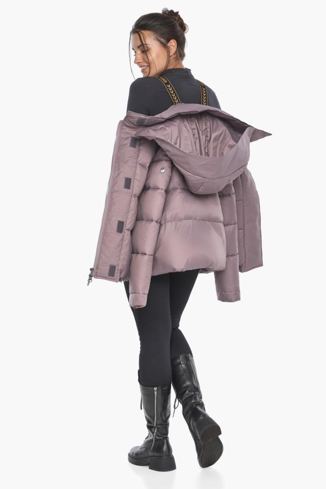 """Пудровая куртка с ветрозащитной планкой женская модель 43560 Braggart """"Angel's Fluff"""" фото 4"""