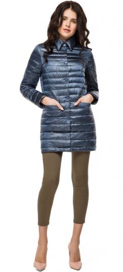 """Женская куртка осенне-весенняя легкая цвет темная лазурь модель 41323 Braggart """"Angel's Fluff"""" фото 1"""