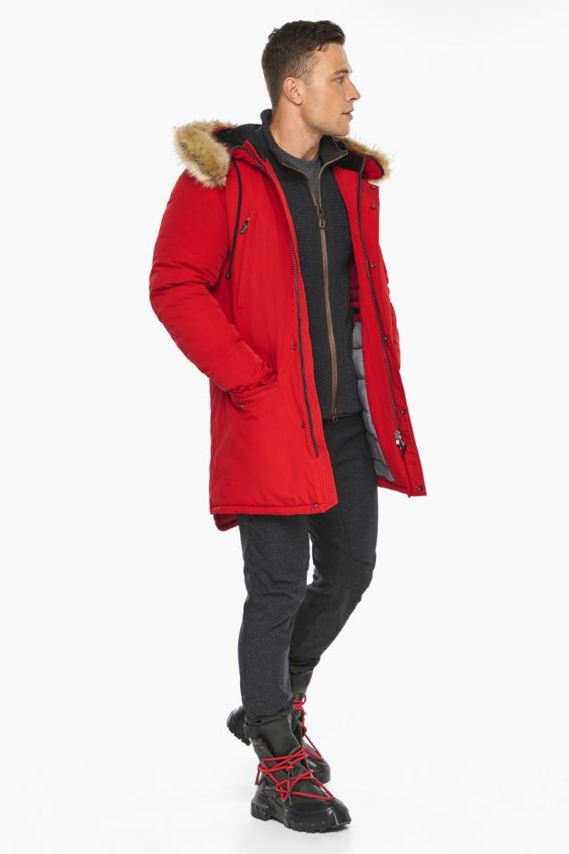 """Парка – воздуховик трендовый красный зимний мужской модель 45062 Braggart """"Angel's Fluff Man"""" фото 5"""