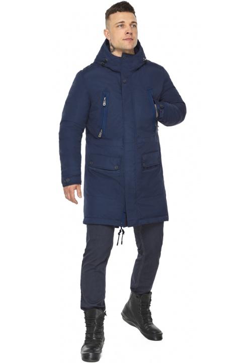 """Куртка – воздуховик чоловічий темно-синій стильний зимовий модель 30444 Braggart """"Angel's Fluff Man"""" фото 1"""