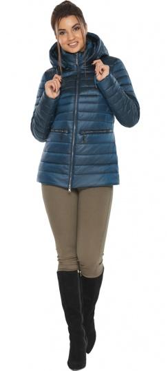 """Модная куртка осенне-весенняя женская цвет тёмная лазурь модель 63045 Braggart """"Angel's Fluff"""" фото 1"""