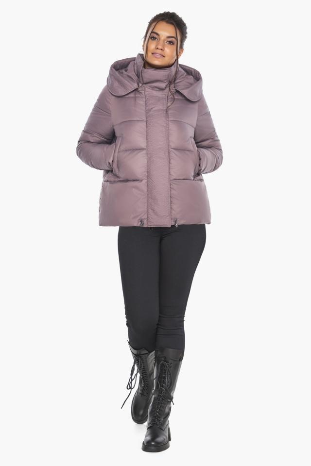 """Пудровая куртка с ветрозащитной планкой женская модель 43560 Braggart """"Angel's Fluff"""" фото 2"""