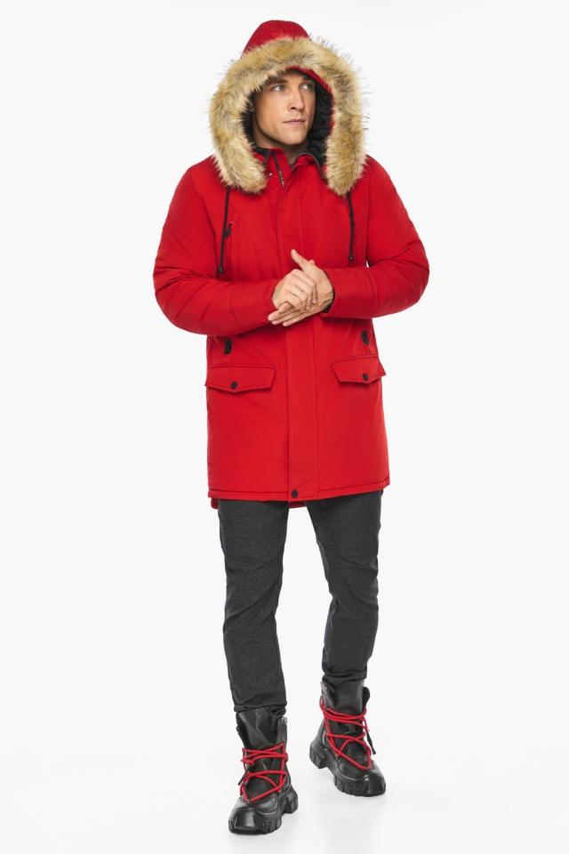 """Парка – воздуховик трендовый красный зимний мужской модель 45062 Braggart """"Angel's Fluff Man"""" фото 4"""
