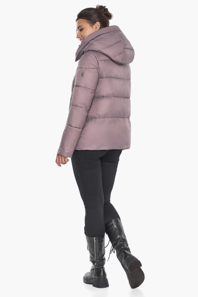 """Пудровая куртка с ветрозащитной планкой женская модель 43560 Braggart """"Angel's Fluff"""" фото 8"""