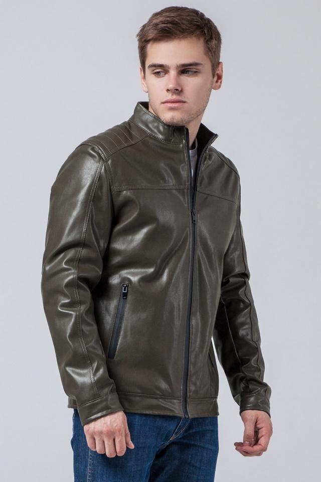 "Куртка-кожанка осень-весна цвет хаки модель 4834 Braggart ""Youth"" фото 3"