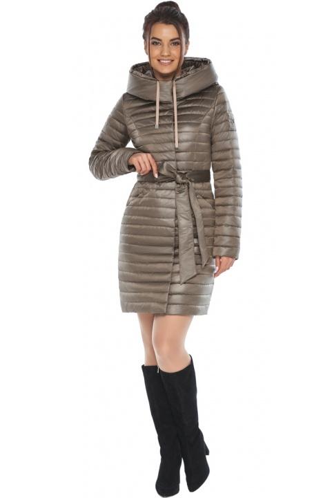"""Трендова куртка жіноча капучинова модель 66870 Braggart """"Angel's Fluff"""" фото 1"""