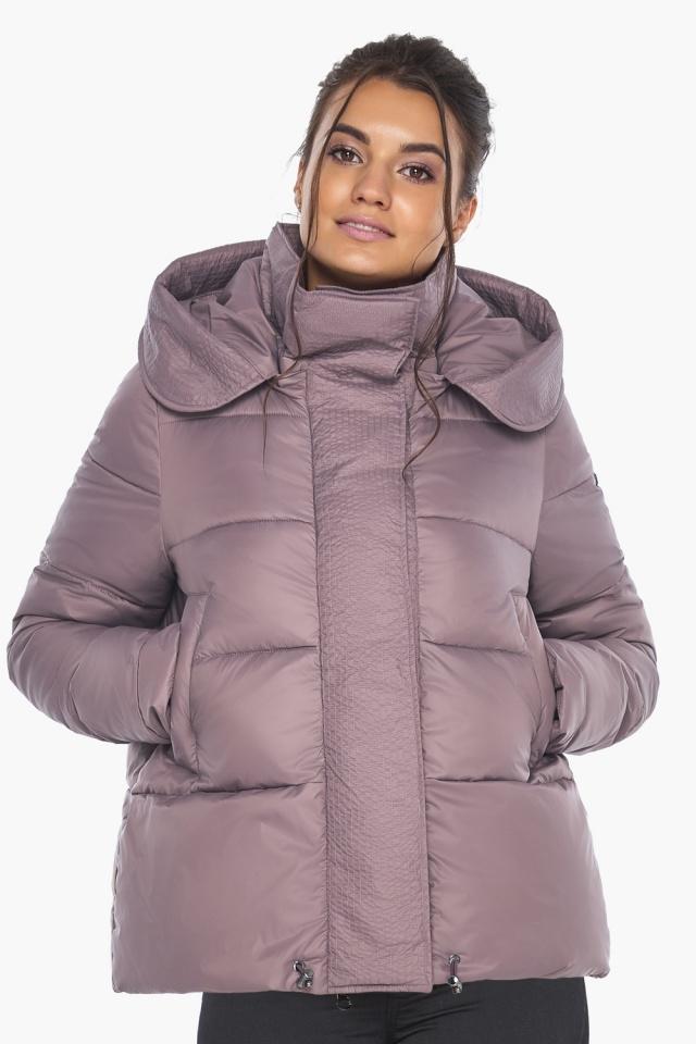 """Пудровая куртка с ветрозащитной планкой женская модель 43560 Braggart """"Angel's Fluff"""" фото 5"""
