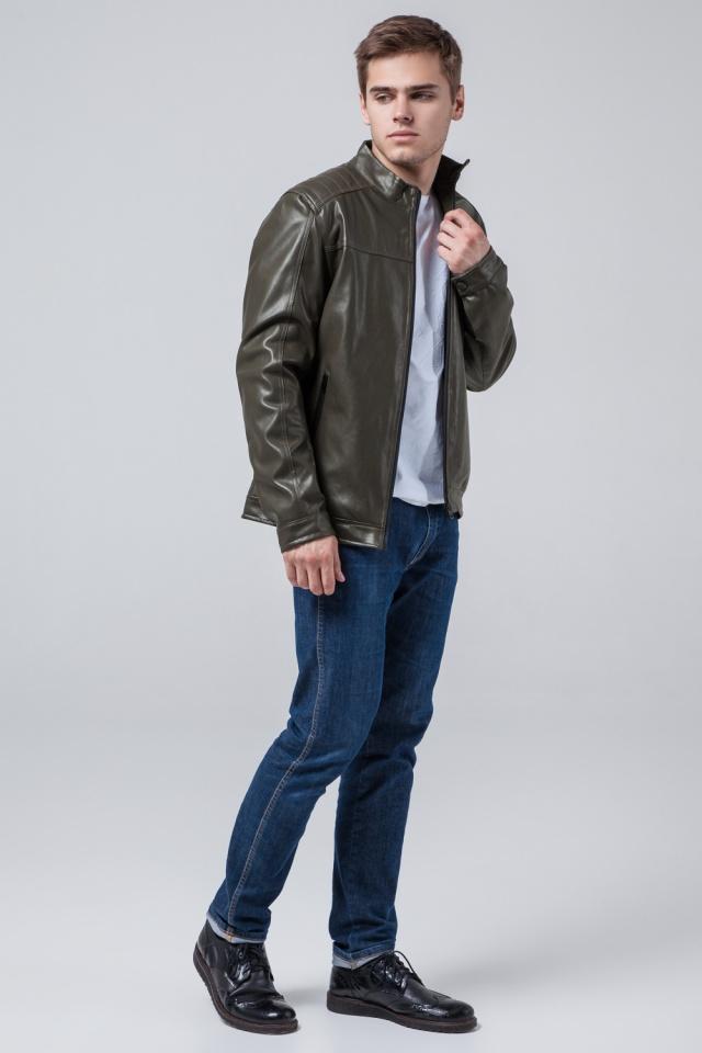 "Куртка-кожанка осень-весна цвет хаки модель 4834 Braggart ""Youth"" фото 2"