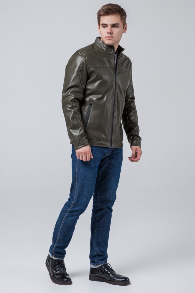 "Куртка-кожанка осень-весна цвет хаки модель 4834 Braggart ""Youth"" фото 4"