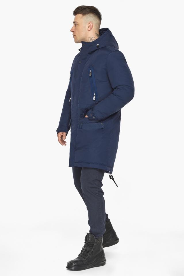 """Куртка – воздуховик мужской тёмно-синий стильный зимний модель 30444 Braggart """"Angel's Fluff Man"""" фото 6"""
