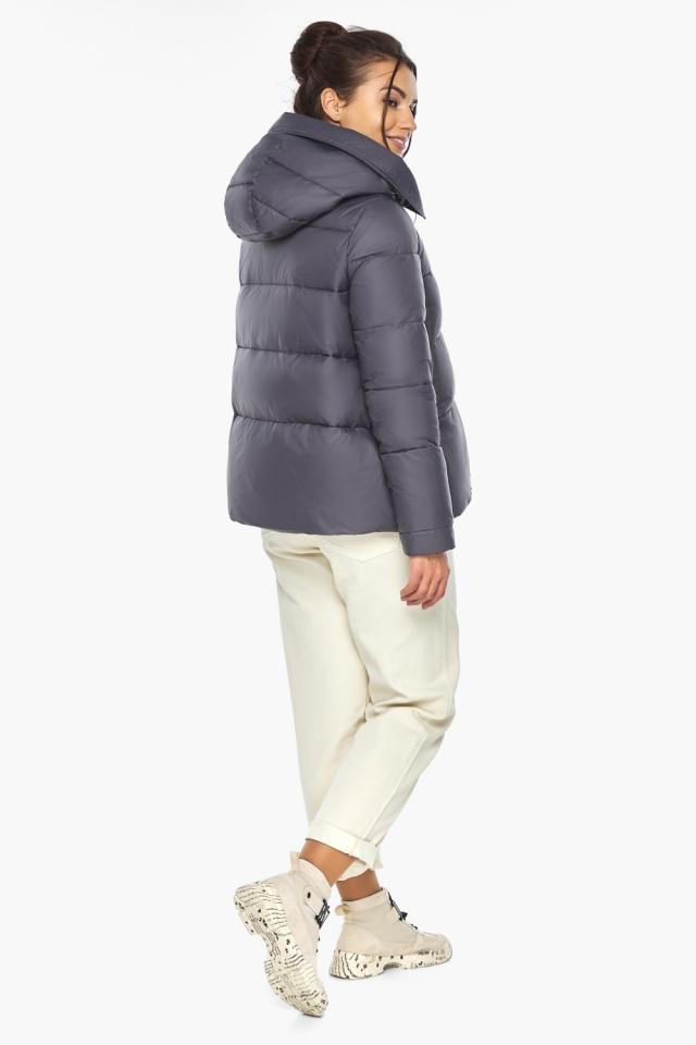 """Жемчужно-серая куртка женская с капюшоном модель 43560 Braggart """"Angel's Fluff"""" фото 8"""
