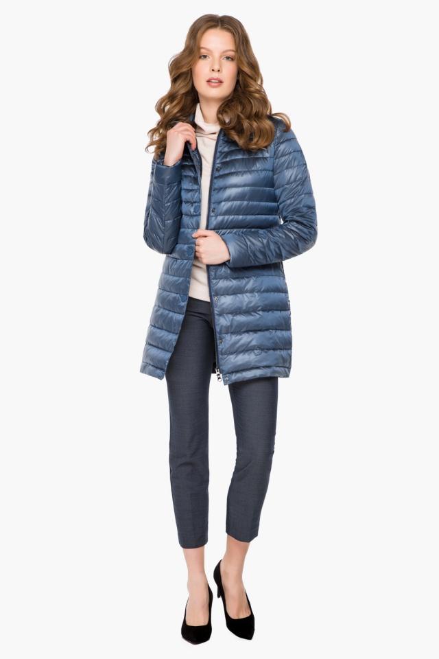 """Куртка осенне-весенняя женская цвет ниагара модель 41323 Braggart """"Angel's Fluff"""" фото 4"""