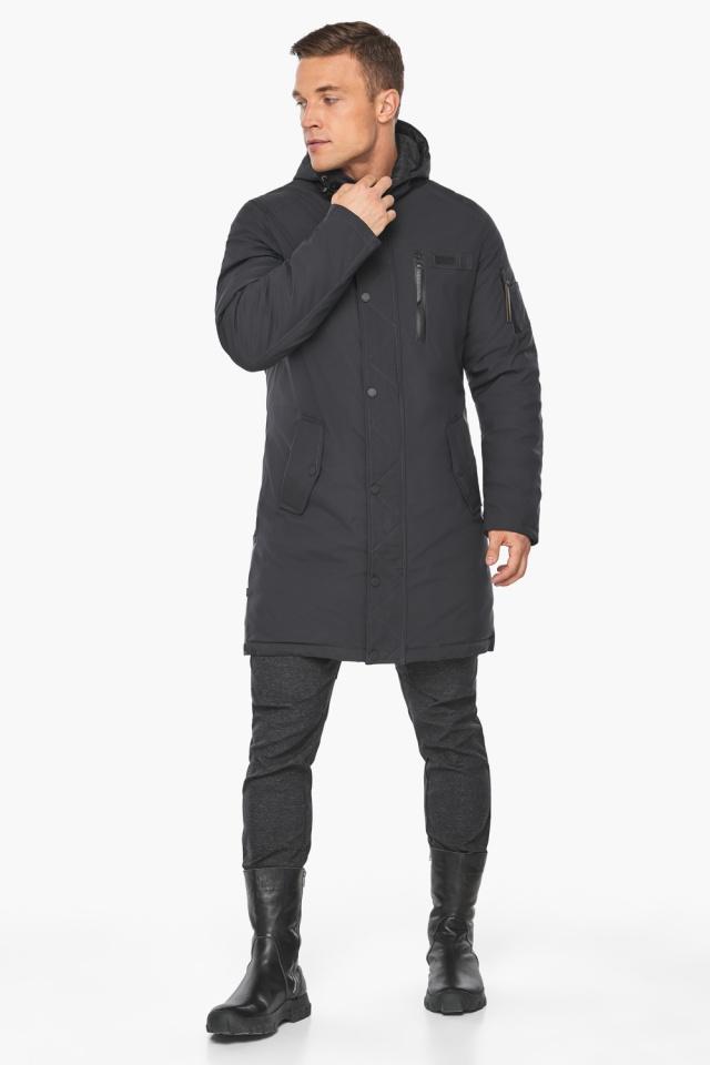 """Куртка – воздуховик цвета графита мужской зимний модель 38012 Braggart """"Angel's Fluff Man"""" фото 6"""