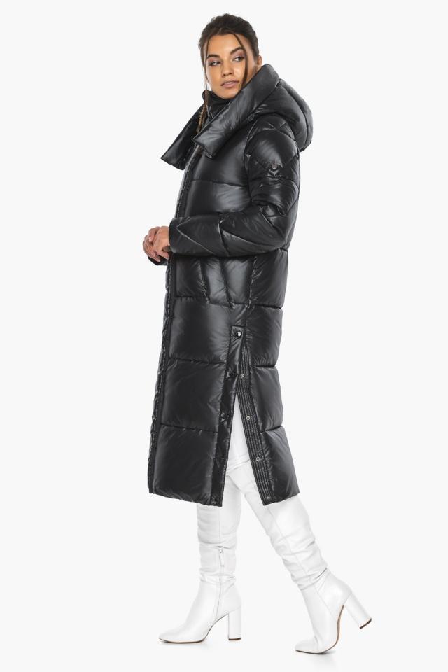 """Куртка женская чёрная зимняя с капюшоном модель 41565 Braggart """"Angel's Fluff"""" фото 8"""