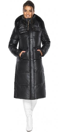 """Куртка женская чёрная зимняя с капюшоном модель 41565 Braggart """"Angel's Fluff"""" фото 1"""