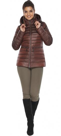"""Куртка элитная каштановая женская осенне-весенняя модель 63045 Braggart """"Angel's Fluff"""" фото 1"""