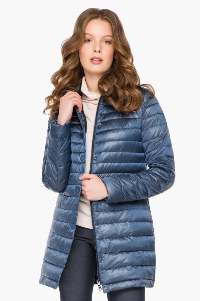 """Куртка осенне-весенняя женская цвет ниагара модель 41323 Braggart """"Angel's Fluff"""" фото 3"""
