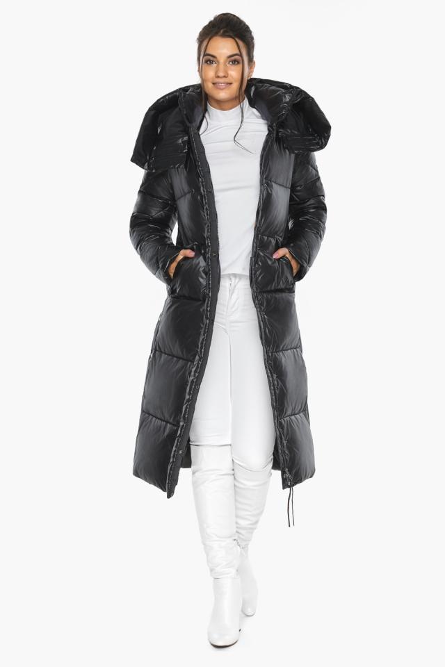 """Куртка женская чёрная зимняя с капюшоном модель 41565 Braggart """"Angel's Fluff"""" фото 3"""