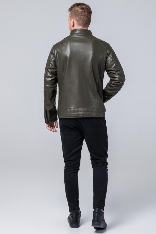 """Подростковая куртка кожанка на осень цвет хаки модель 4327 Braggart """"Youth"""" фото 5"""