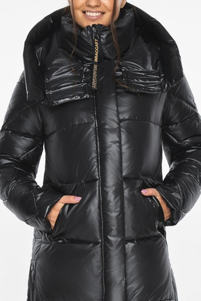 """Куртка женская чёрная зимняя с капюшоном модель 41565 Braggart """"Angel's Fluff"""" фото 10"""