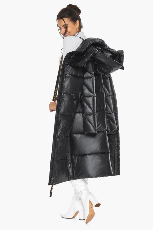 """Куртка женская чёрная зимняя с капюшоном модель 41565 Braggart """"Angel's Fluff"""" фото 5"""