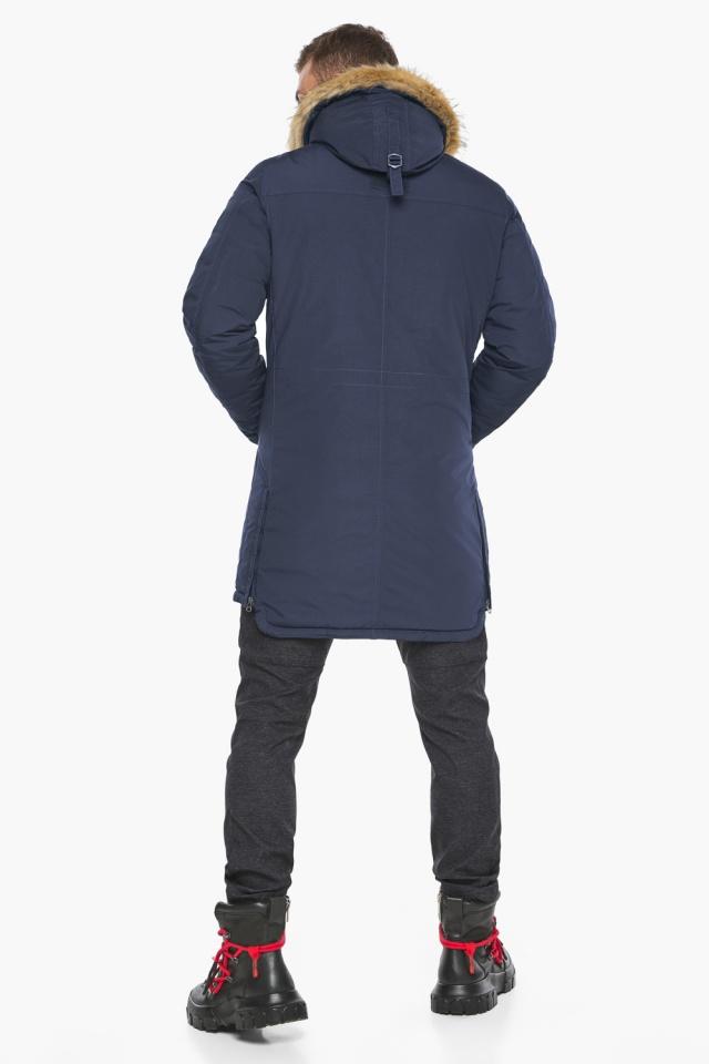 """Парка – воздуховик люксовый зимний мужской синего цвета модель 45062 Braggart """"Angel's Fluff Man"""" фото 7"""