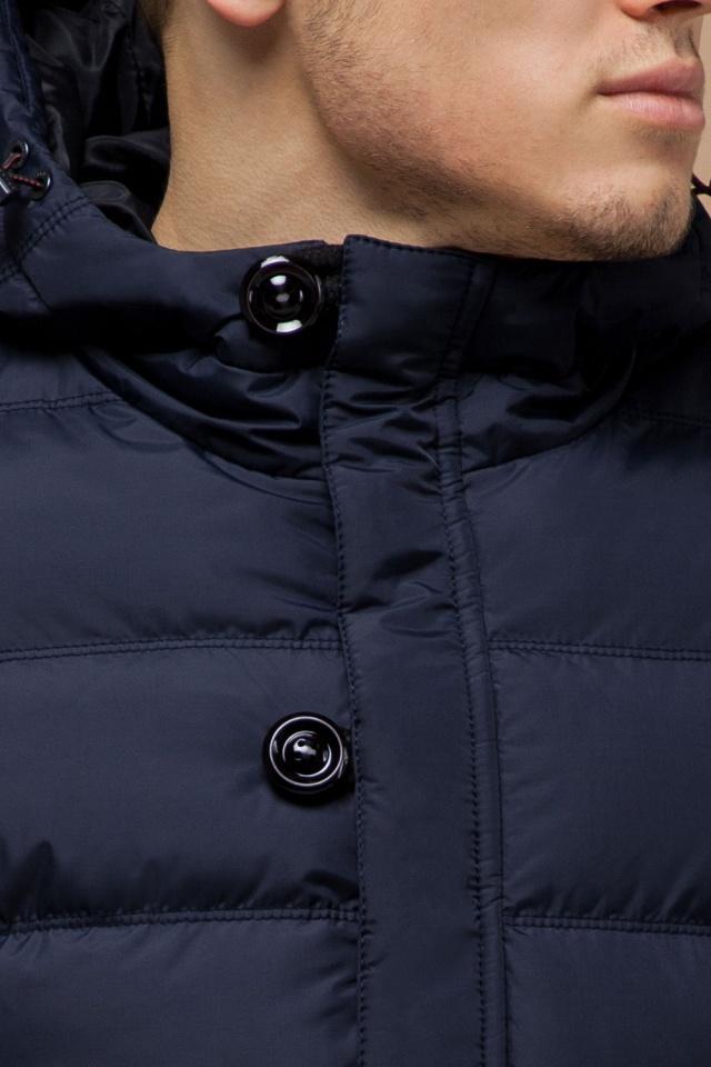 Темно-синяя зимняя качественная куртка мужская модель 30380
