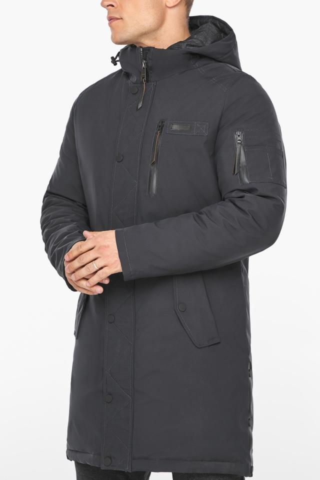"""Куртка – воздуховик цвета графита мужской зимний модель 38012 Braggart """"Angel's Fluff Man"""" фото 8"""