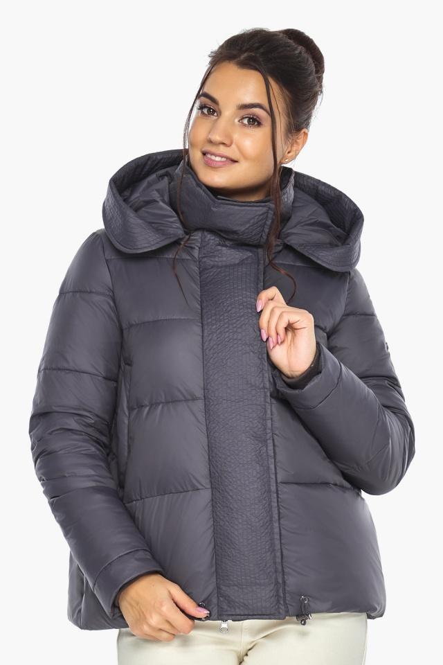 """Жемчужно-серая куртка женская с капюшоном модель 43560 Braggart """"Angel's Fluff"""" фото 5"""