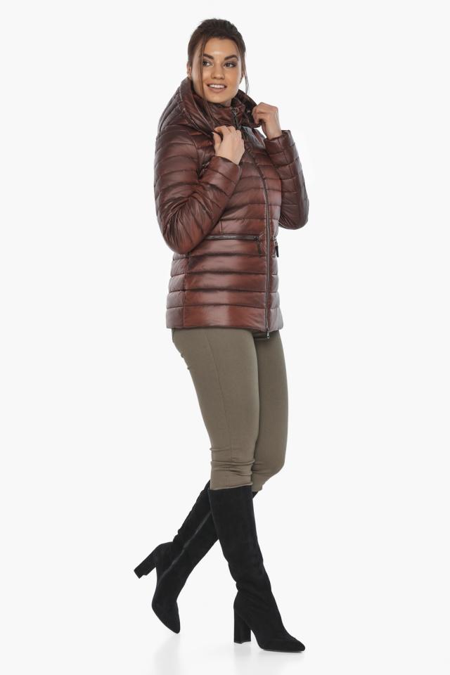 """Куртка элитная каштановая женская осенне-весенняя модель 63045 Braggart """"Angel's Fluff"""" фото 5"""