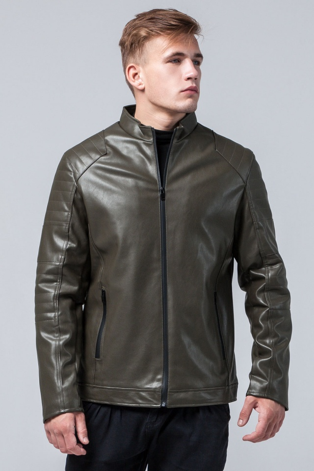 "Куртка подростковая трендовая осенняя цвета хаки модель 4327 Braggart ""Youth"" фото 3"