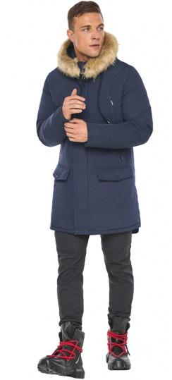 """Парка – воздуховик люксовый зимний мужской синего цвета модель 45062 Braggart """"Angel's Fluff Man"""" фото 1"""