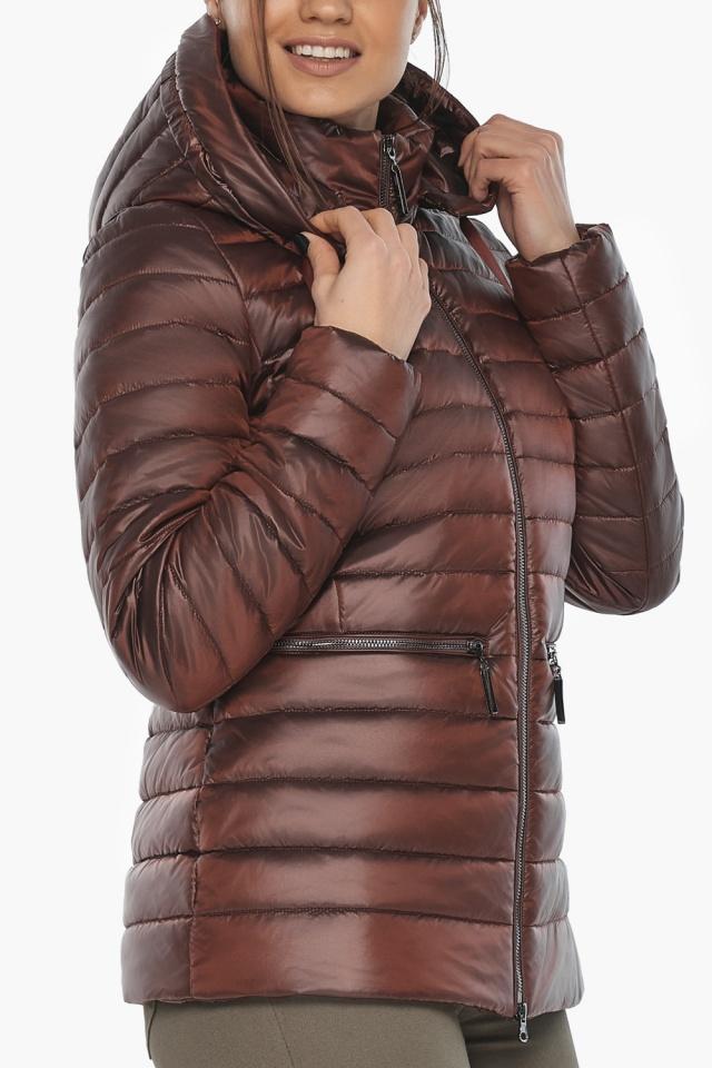 """Куртка элитная каштановая женская осенне-весенняя модель 63045 Braggart """"Angel's Fluff"""" фото 8"""