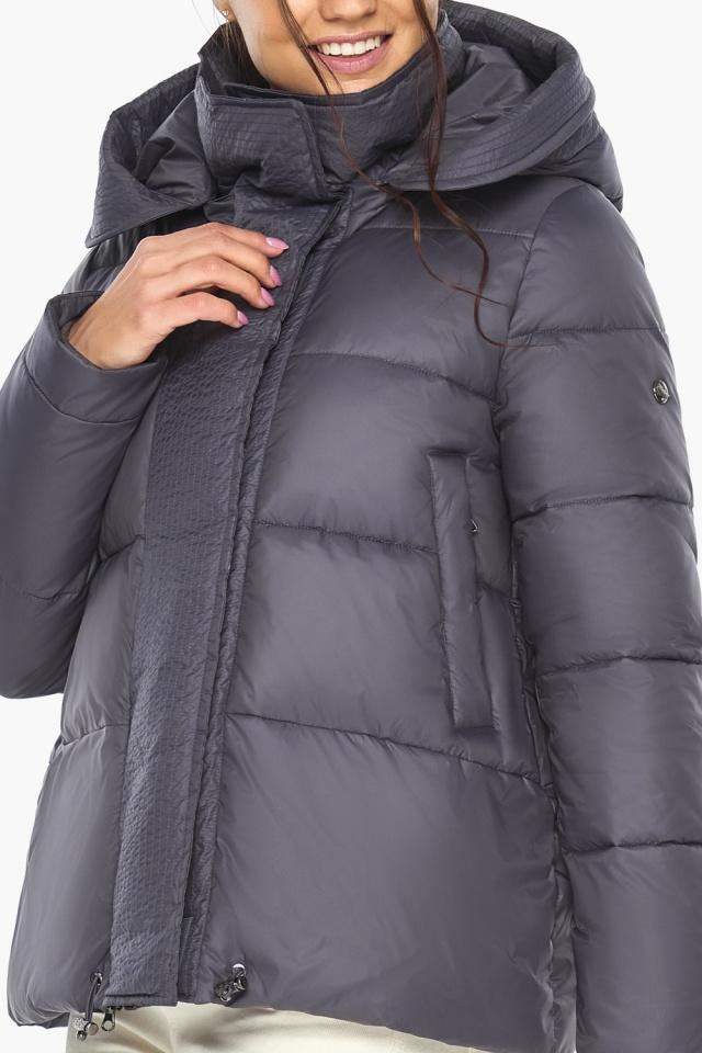 """Жемчужно-серая куртка женская с капюшоном модель 43560 Braggart """"Angel's Fluff"""" фото 9"""