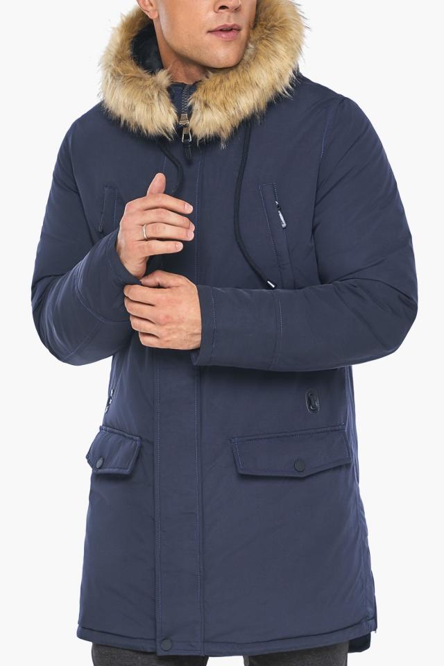 """Парка – воздуховик люксовый зимний мужской синего цвета модель 45062 Braggart """"Angel's Fluff Man"""" фото 8"""