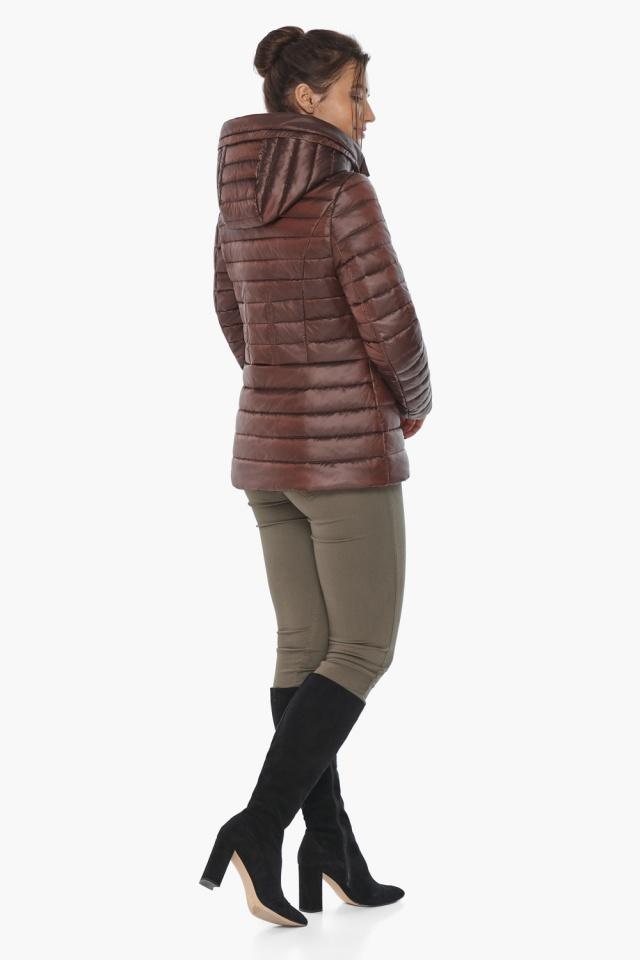 """Куртка элитная каштановая женская осенне-весенняя модель 63045 Braggart """"Angel's Fluff"""" фото 7"""