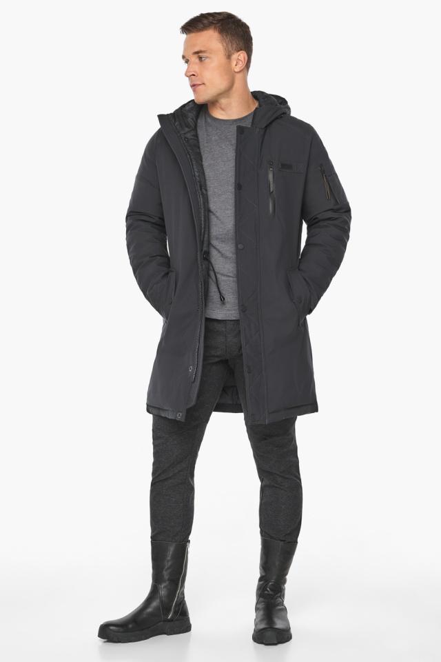 """Куртка – воздуховик цвета графита мужской зимний модель 38012 Braggart """"Angel's Fluff Man"""" фото 5"""