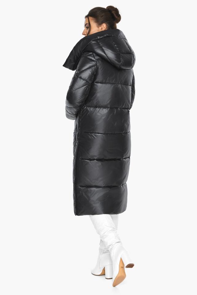 """Куртка женская чёрная зимняя с капюшоном модель 41565 Braggart """"Angel's Fluff"""" фото 9"""