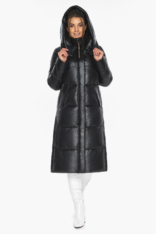 """Куртка женская чёрная зимняя с капюшоном модель 41565 Braggart """"Angel's Fluff"""" фото 6"""