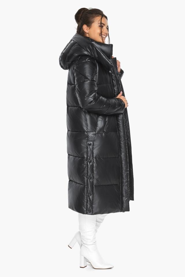 """Куртка женская чёрная зимняя с капюшоном модель 41565 Braggart """"Angel's Fluff"""" фото 7"""