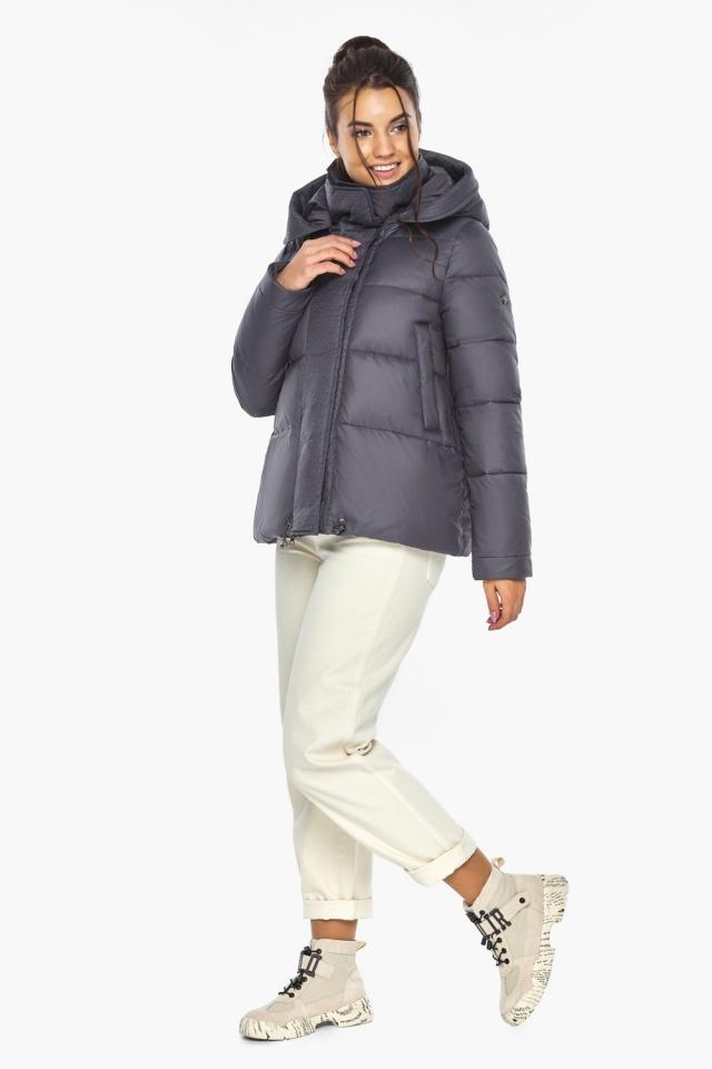 """Жемчужно-серая куртка женская с капюшоном модель 43560 Braggart """"Angel's Fluff"""" фото 7"""