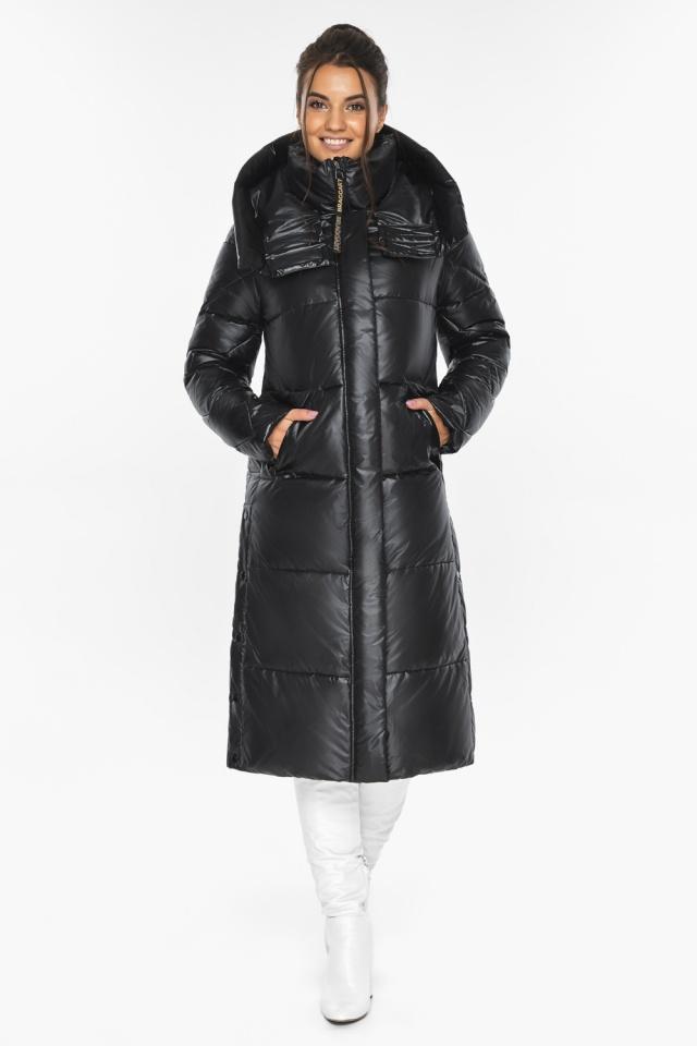 """Куртка женская чёрная зимняя с капюшоном модель 41565 Braggart """"Angel's Fluff"""" фото 2"""