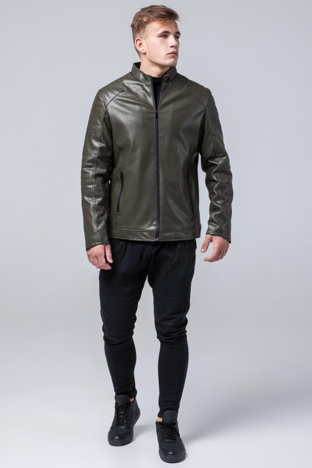 "Куртка подростковая трендовая осенняя цвета хаки модель 4327 Braggart ""Youth"" фото 4"