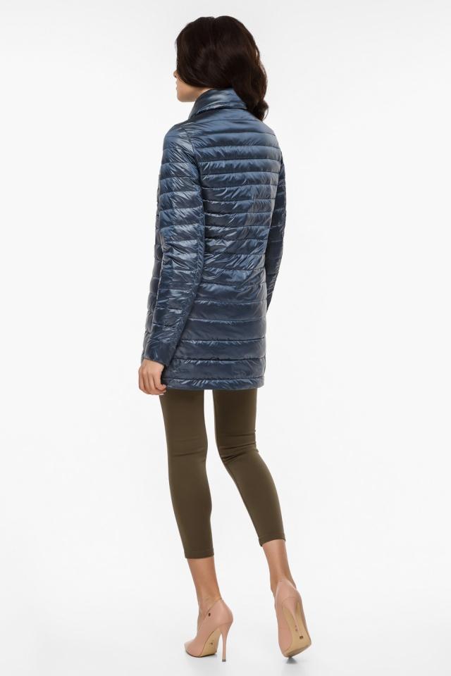 """Женская куртка оригинальная осенне-весенняя цвет темная лазурь модель 41323 Braggart """"Angel's Fluff"""" фото 5"""