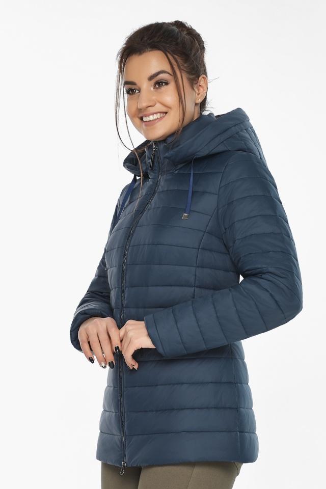 """Синяя стильная куртка осенне-весенняя женская модель 63045 Braggart """"Angel's Fluff"""" фото 3"""