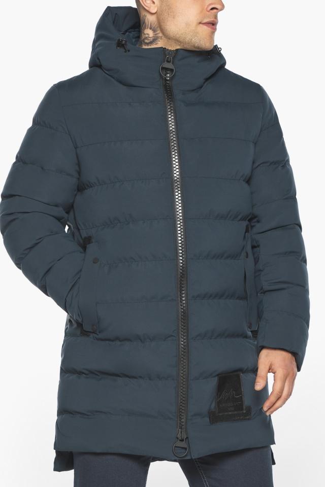 """Мужская брендовая графитово-синяя зимняя куртка модель 49022 Braggart """"Aggressive"""" фото 7"""