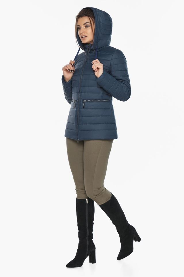 """Синяя стильная куртка осенне-весенняя женская модель 63045 Braggart """"Angel's Fluff"""" фото 5"""