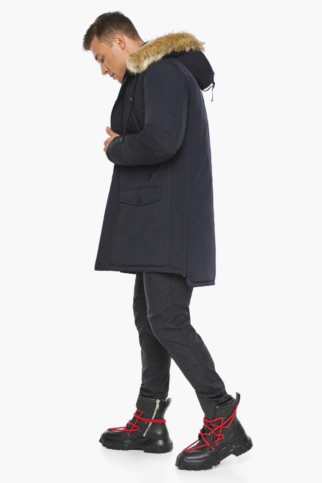 """Парка – воздуховик удобный зимний мужской цвет тёмно-синий модель 45062 Braggart """"Angel's Fluff Man"""" фото 6"""
